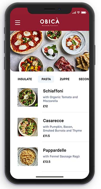 Contactless Menu App