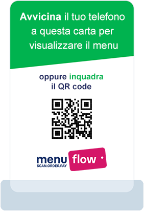 Italian Contactless Menu Card